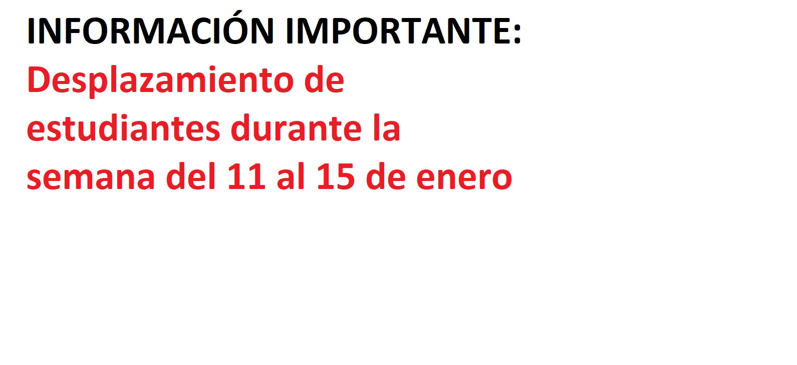 ACTIVIDAD PRESENCIAL EN LA FACULTAD: SEMANA 11-15 DE ENERO DE 2021